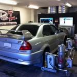 Mappning motoroptimering effektmätning dyno bänkning Rototest Mitsubishi Evo 6 TME