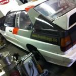 Mappning motoroptimering effektmätning dyno bänkning Rototest Audi Ur-Quattro