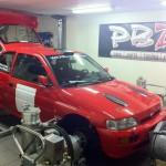 Mappning motoroptimering effektmätning dyno bänkning Rototest Ford Escort Cosworth Rally