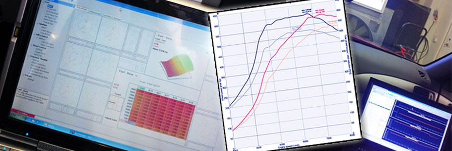 Mappning motoroptimering effektmätning dyno bänkning Rototest